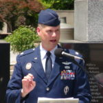 Chris speaks of his friends who made the ultimate sacrifice to Peoria County on Memorial Day