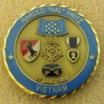 LTC (ret) Hal Fritz's CMoH Society Coin (obverse)