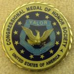 LTC (ret) Hal Fritz's CMoH Society Coin (reverse)